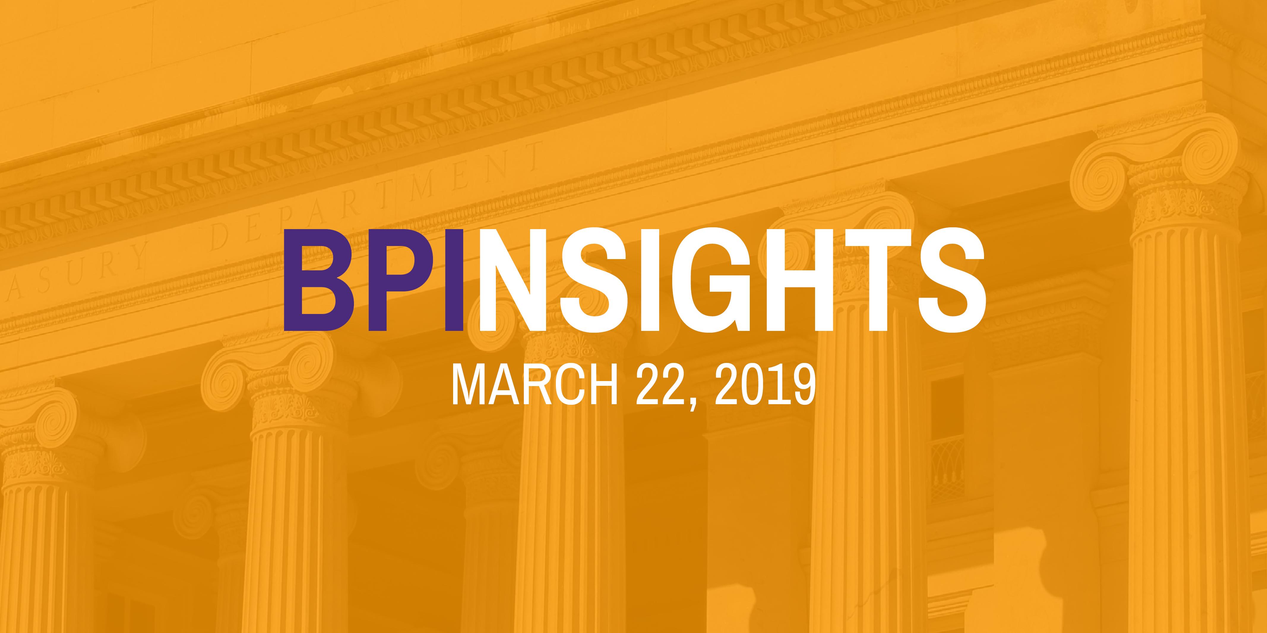 BPInsights: March 22, 2019