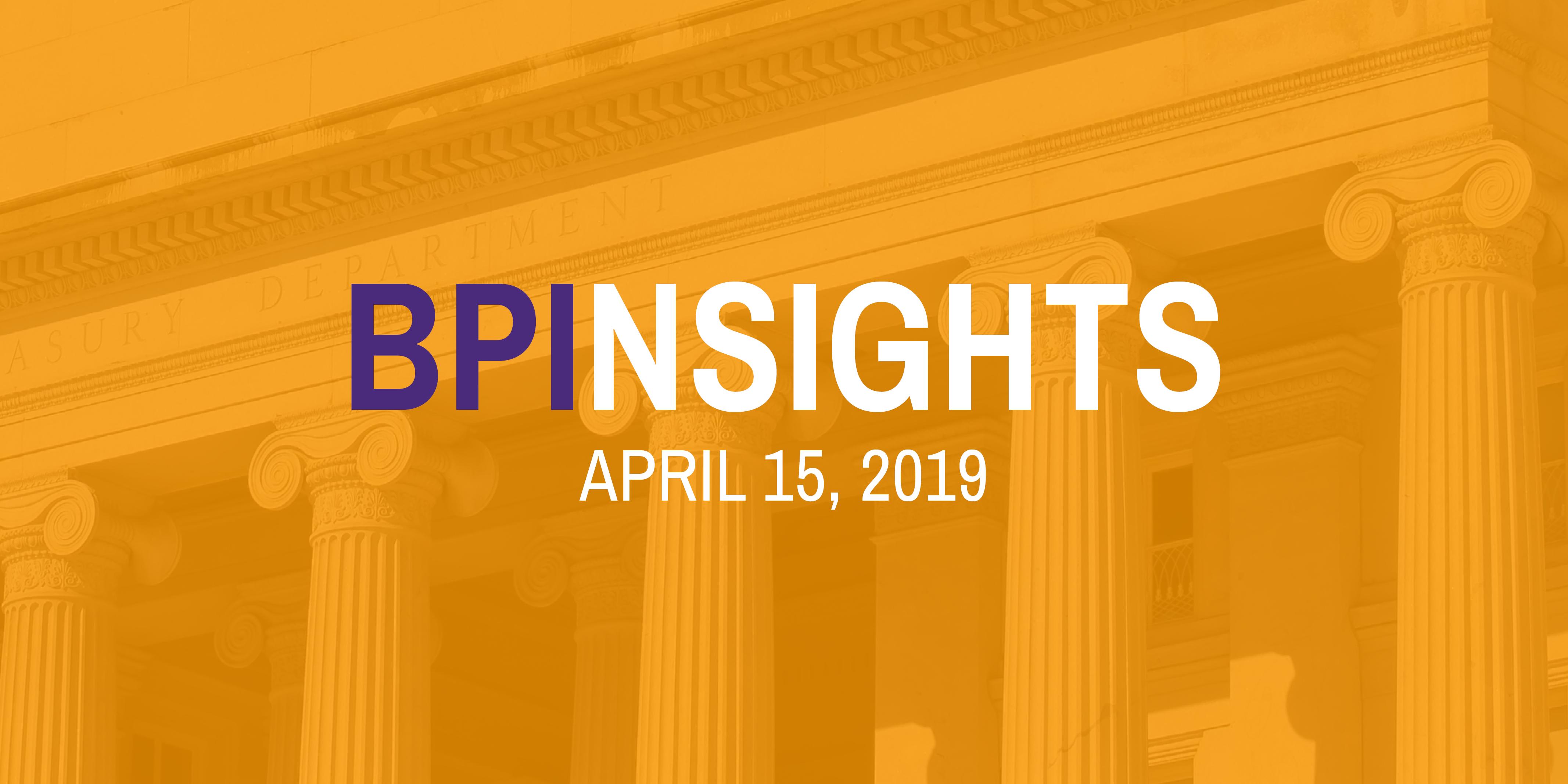 BPInsights: April 15, 2019