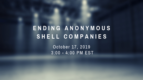 Ending Anonymous Shell Companies Briefing Summary