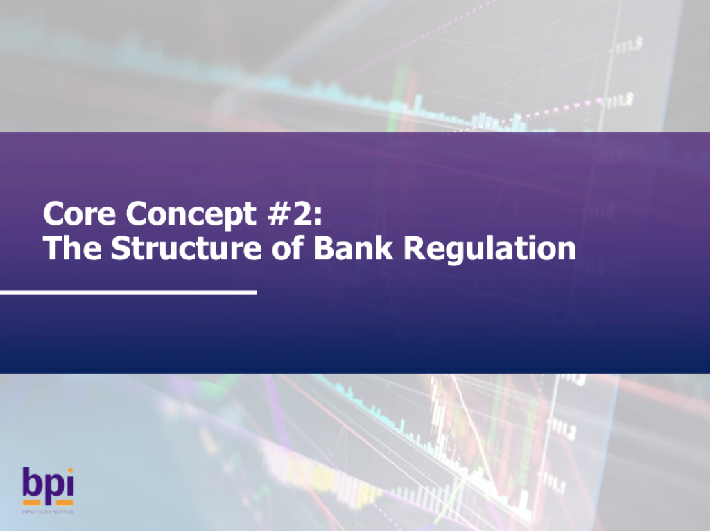 The Structure of Bank Regulation