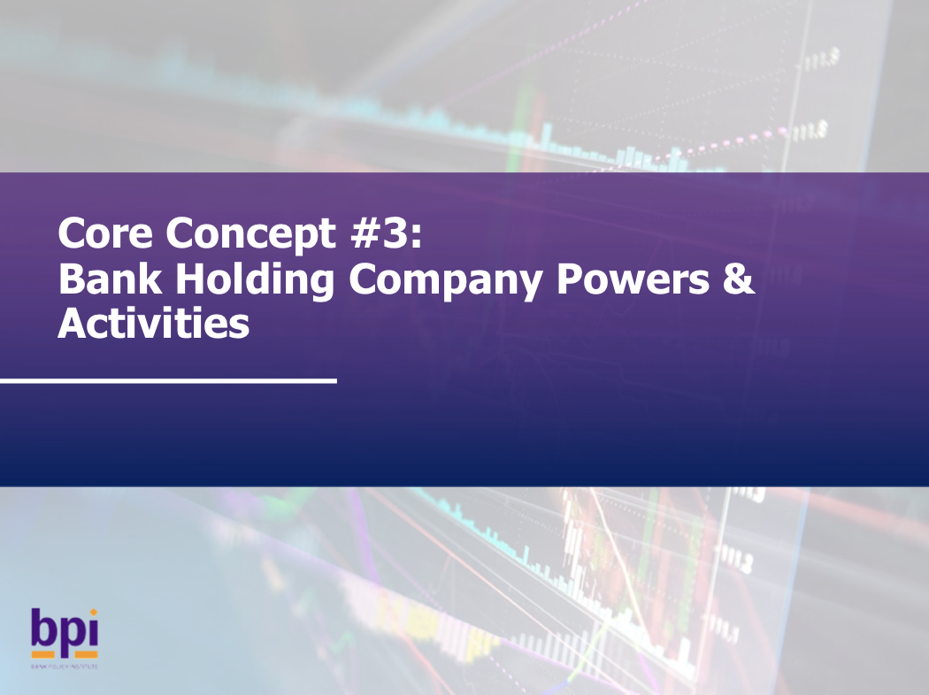 Bank Holding Company Powers & Activities