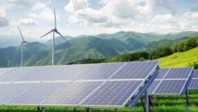 image of wind turbines solar green
