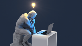 picture of thinking man